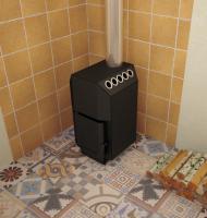 Печь для дома ТОП-модель 140 с чугунной дверцей_2