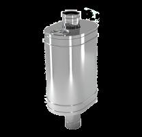 Бак на трубу овальный 50 л 1 мм d 115