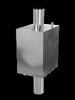 Бак на трубу прямоугольный 50 л d 115