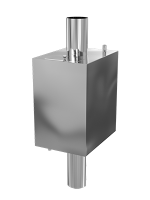 Бак на трубу прямоугольный 60 л d 115